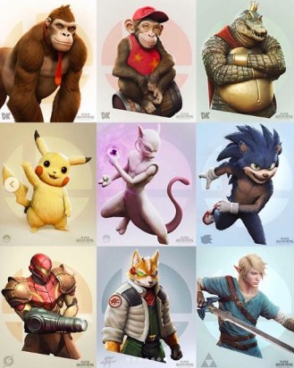 super smash bros. art