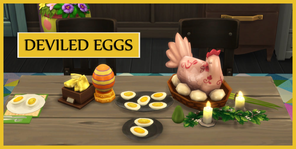 sims 4, deviled eggs, mod