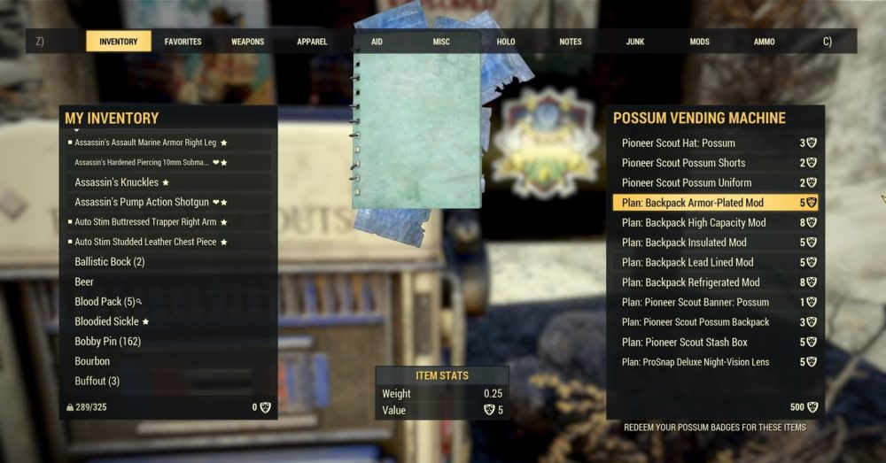 Fallout 76: How to Get Backpacks, Backpack Mods & What They Do