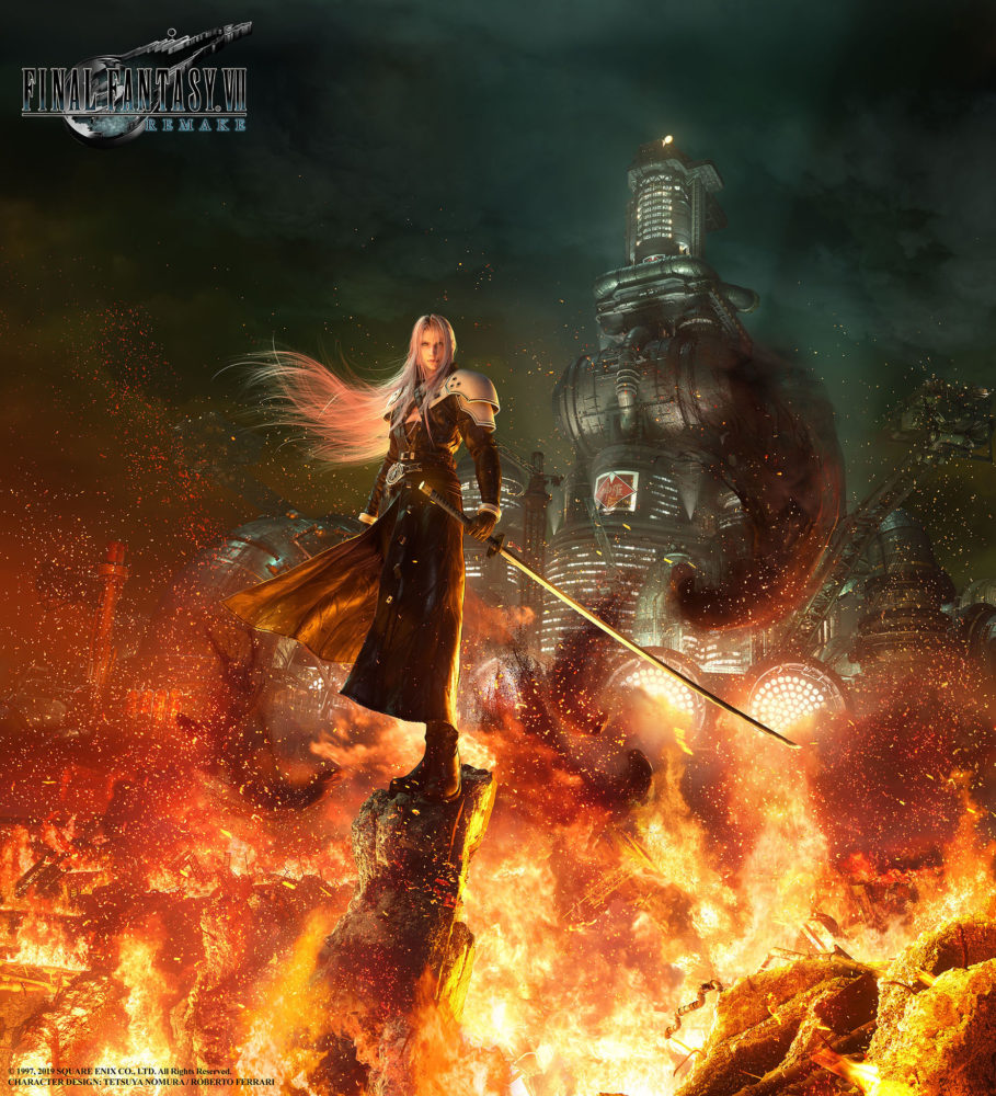 Final Fantasy VII Remake Image Reveals Gorgeous View Of Sephiroth More Coming Tomorrow