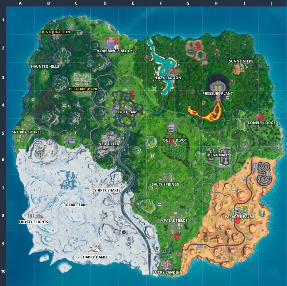Fortnite Unicorn Floaties Locations