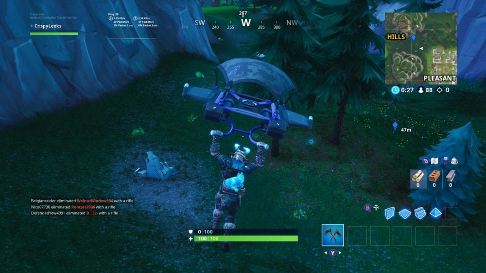 fortbyte 30 location between haunted hills pleasant park