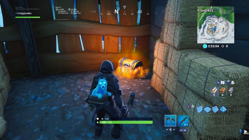 search chest in Fortnite