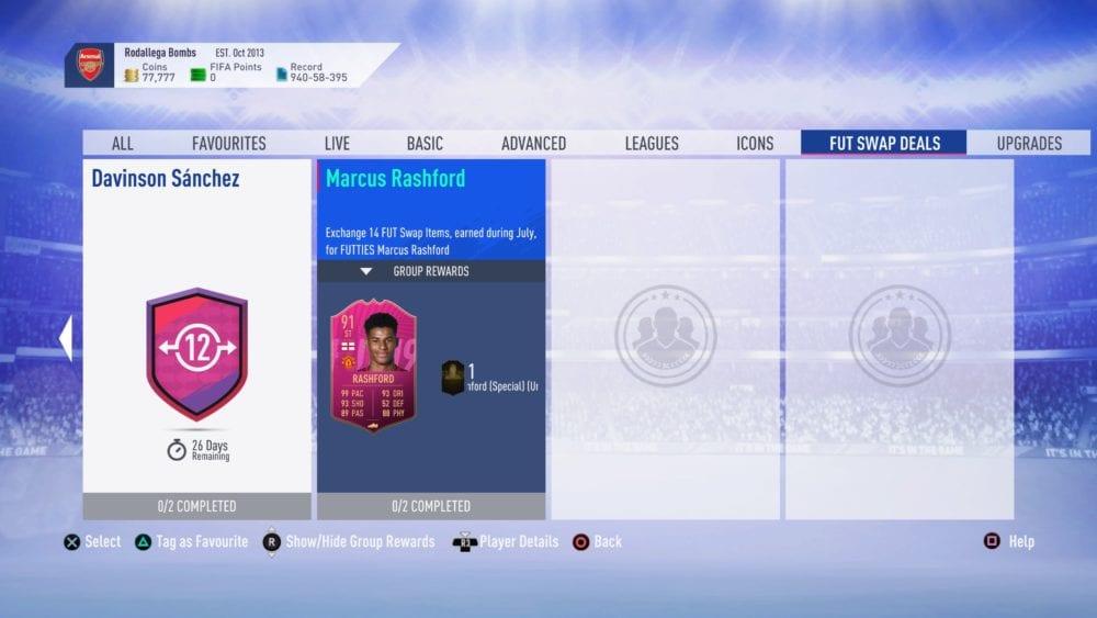 FIFA 19, FUT swap, july 2019