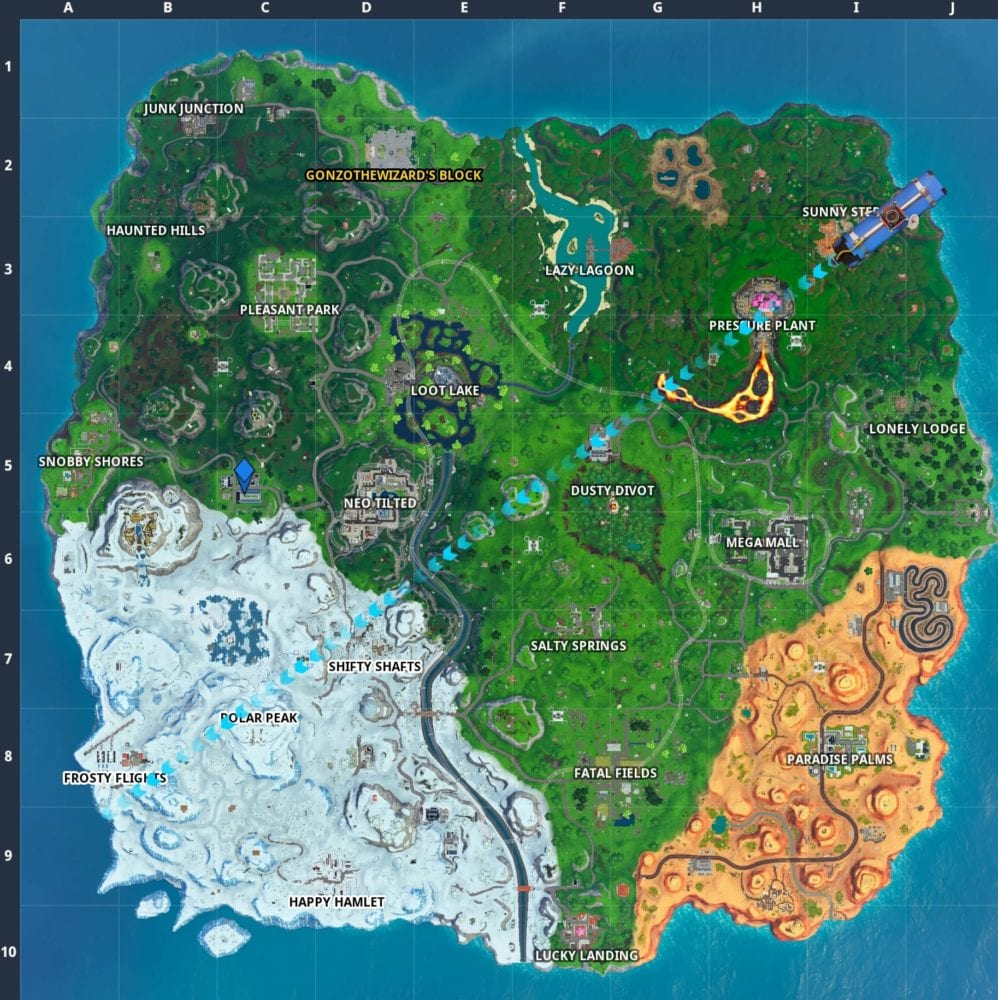 Fortnite indoor soccer pitch location