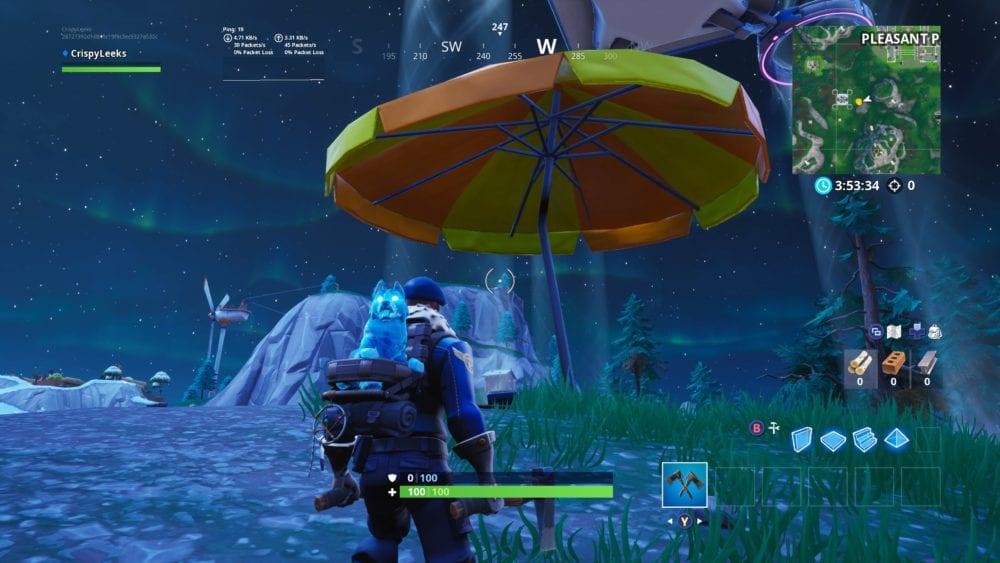 fortnite giant beach umbrellas