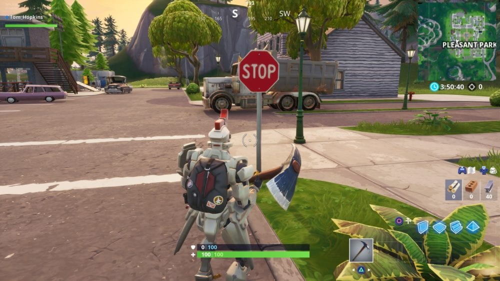 Fortnite, stop sign locations