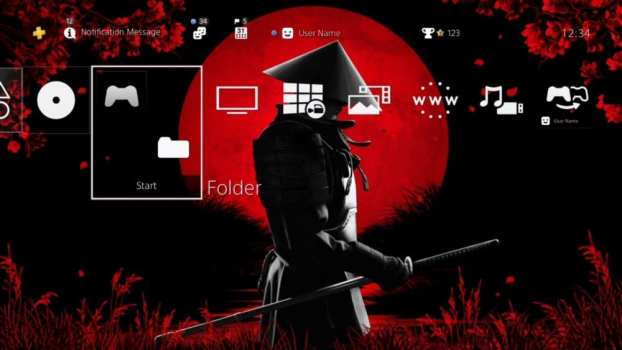 Blood Moon Samurai Dynamic Theme