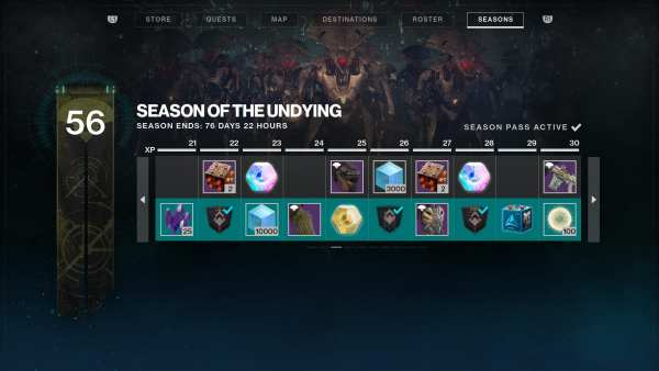 season of the undying, season pass ranks, battle pass, destiny 2