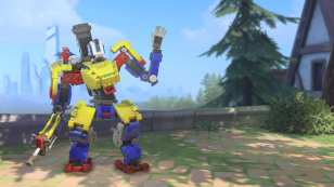 overwatch, bastion, lego, brick