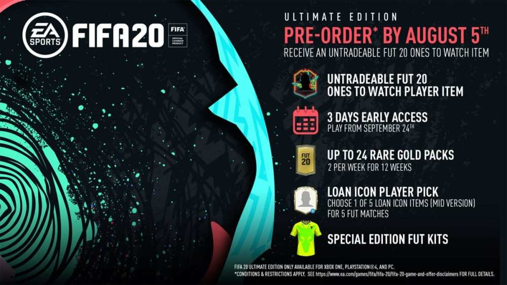 FIFA 20 Ultimate Edition OTW Player, FIFA 20 Ultimate Edition packs