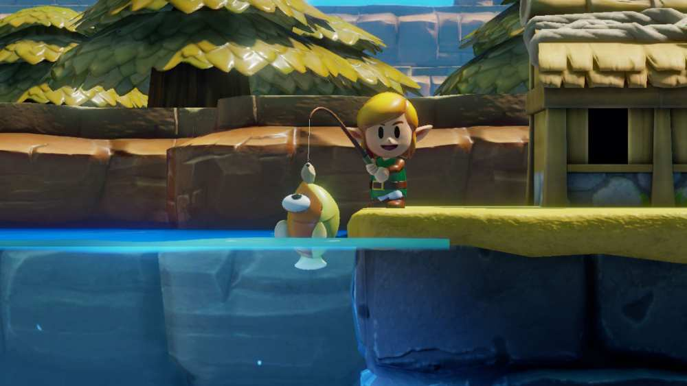 go fishing, cool things in zelda link's awakening