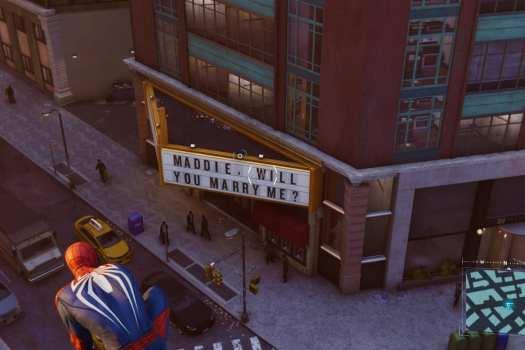 Marvel's Spider-Man marriage proposal easter egg