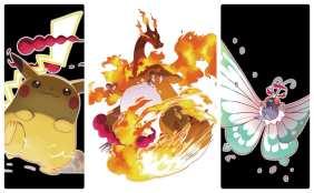 pokemon sword and shield key art, screenshots, gigantamax forms