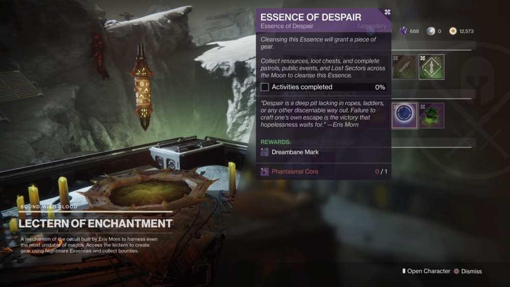 destiny 2, essence of despair quest steps, shadowkeep