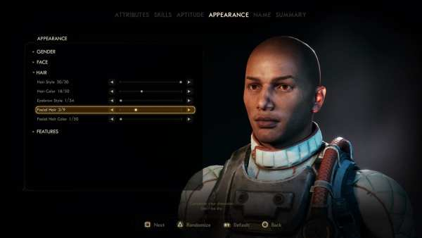 The Outer Worlds hairstyles, The Outer Worlds facial hair