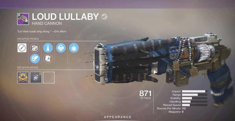 Destiny 2 Loud Lullaby
