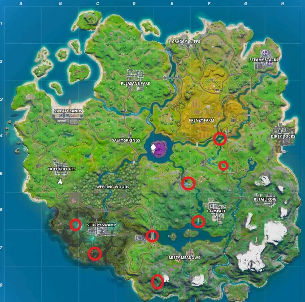 Fortnite flaming ring locations
