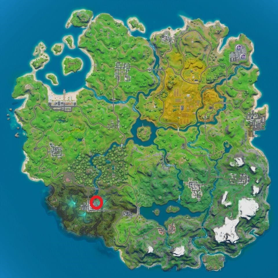 Fortnite hidden R location