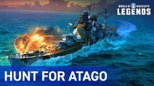 world of warships, hunt for atago