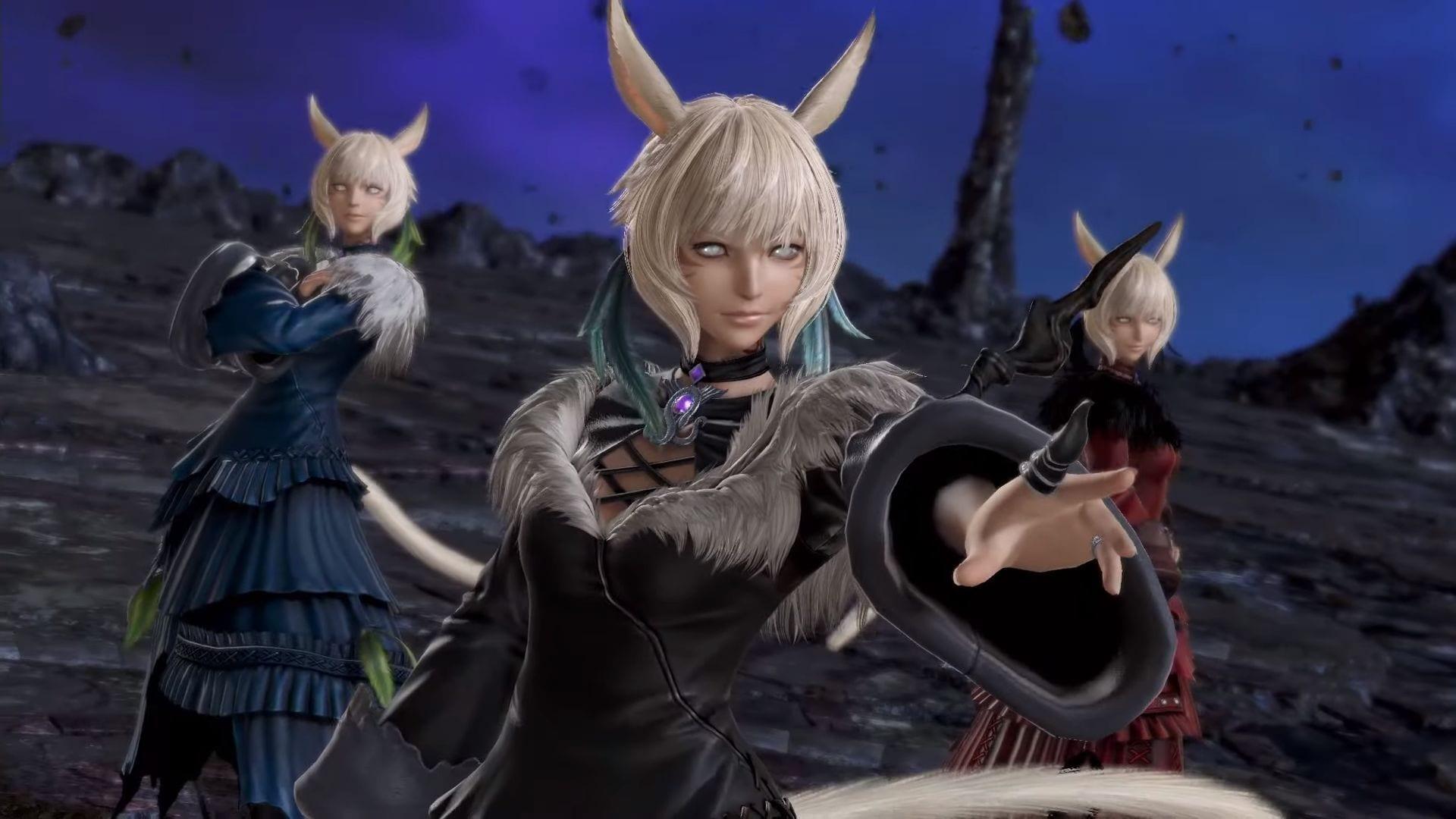 Y Shtola Getting Her Final Fantasy Xiv Shadowbringers Look In Dissidia Final Fantasy Nt
