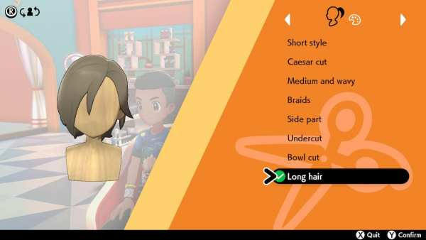 Pokemon, spada e scudo, acconciatura, capelli lunghi