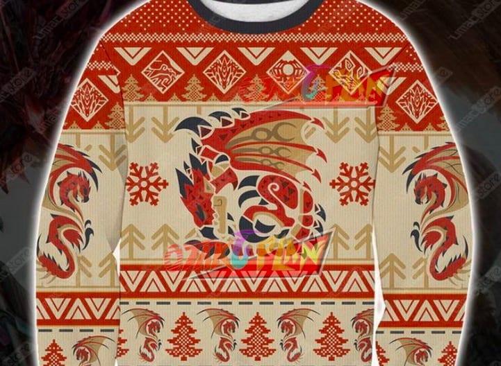 rathalos sweatshirt, holiday gifts