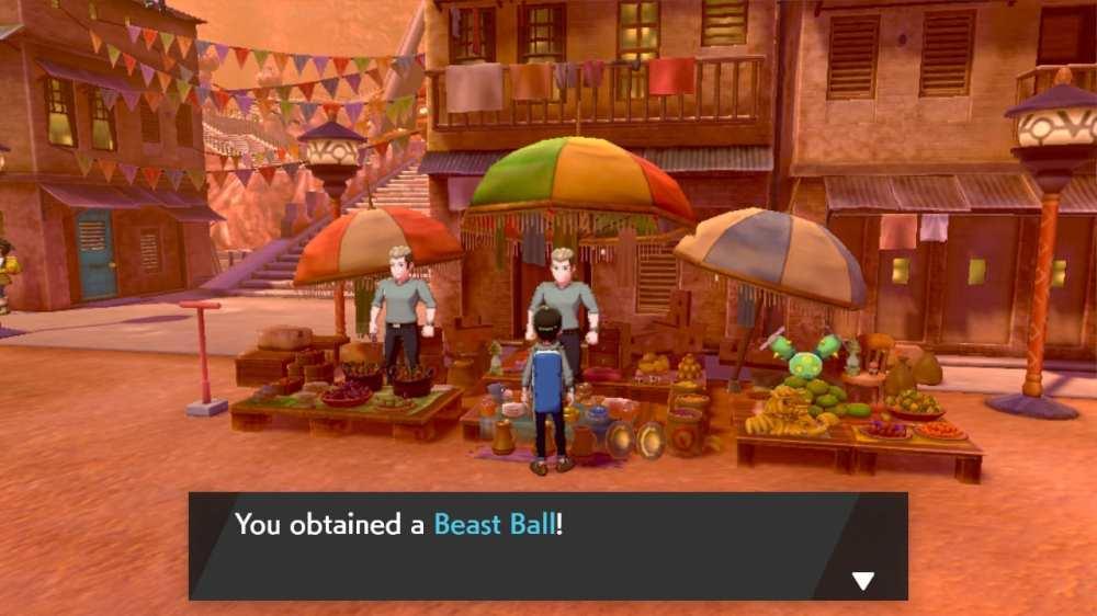pokemon sværd beast ball, pokemon shield beast ball