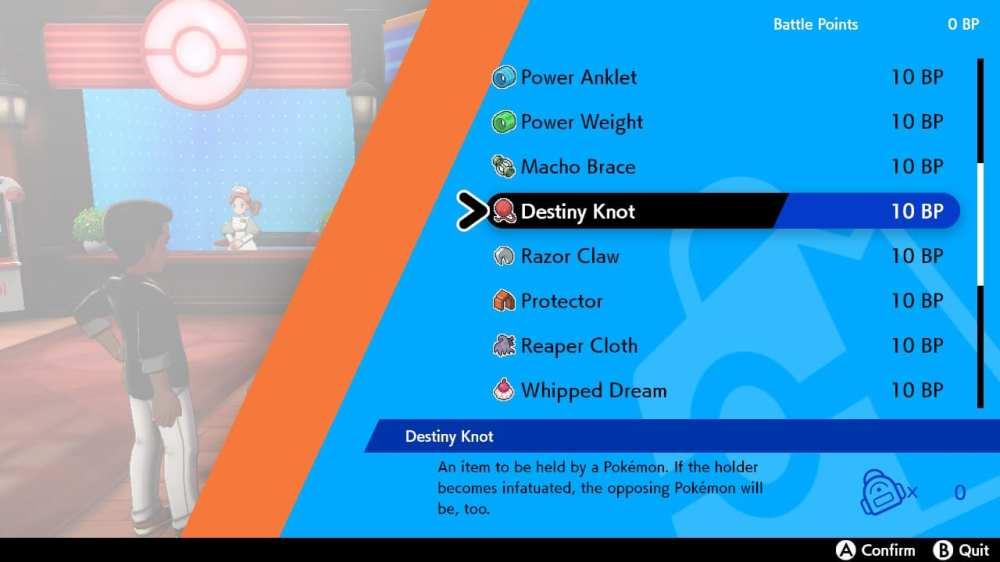 pokemon sword destiny knot, pokemon shield destiny knot