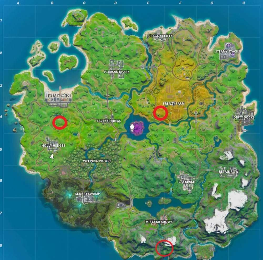 fortnite pipeman location, fortnite hayman location, fortnite timber tent location