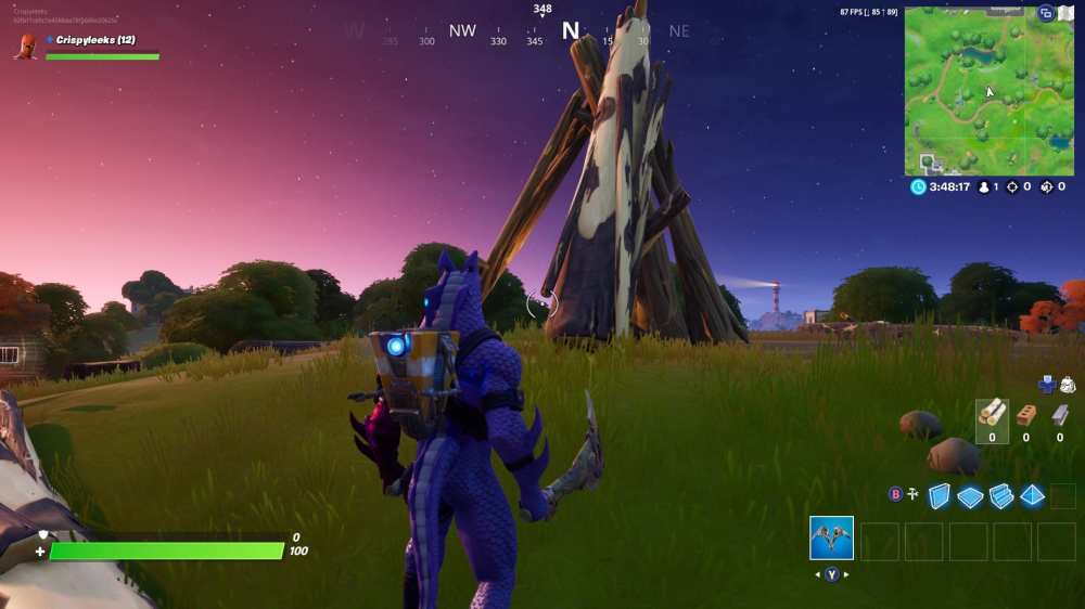 fortnite timber tent location