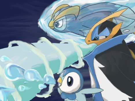 20. Piplup, Prinplup & Empoleon
