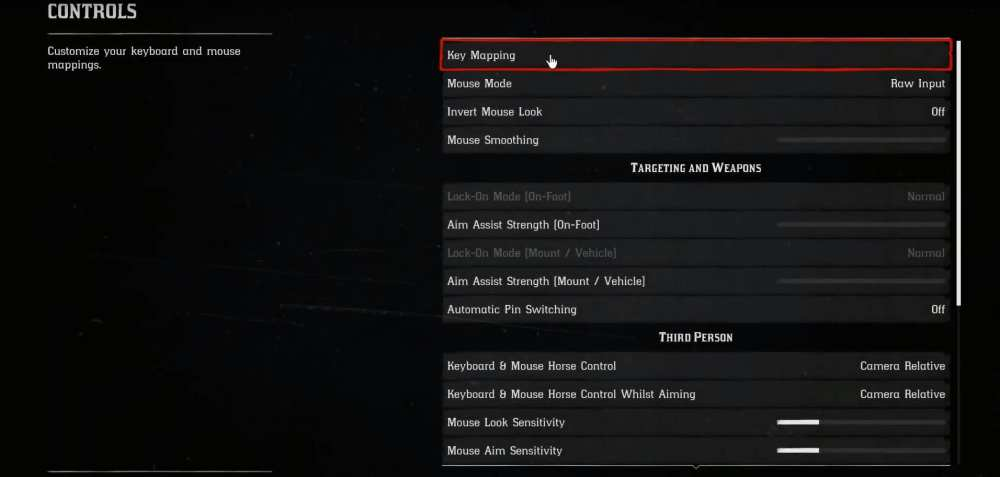 Red Dead Redemption 2 PC Controls
