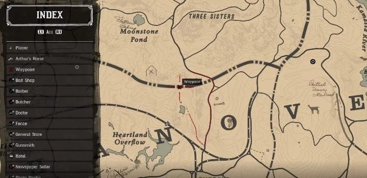 red dead redemption 2 chick's treasure map