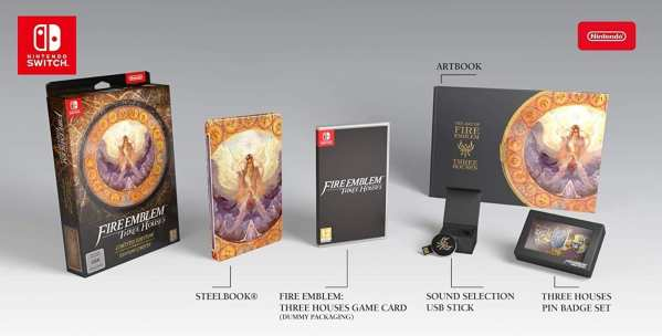 fire emblem, three houses, limited edition