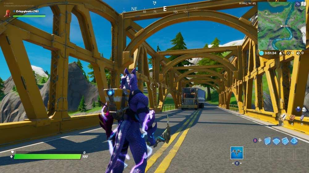 Ubicación del puente amarillo de Fortnite