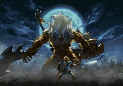 zelda breath of the wild lynel. ring fit adventure, ring-con