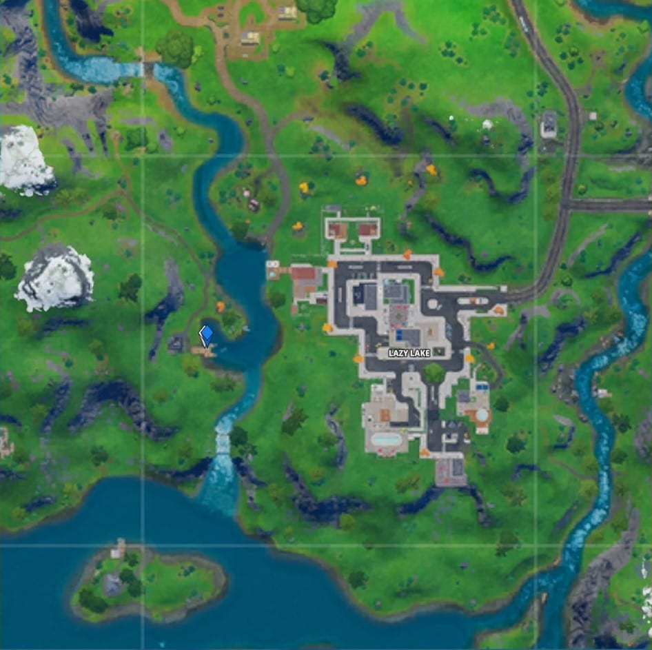 Fortnite Lazy Lake map location