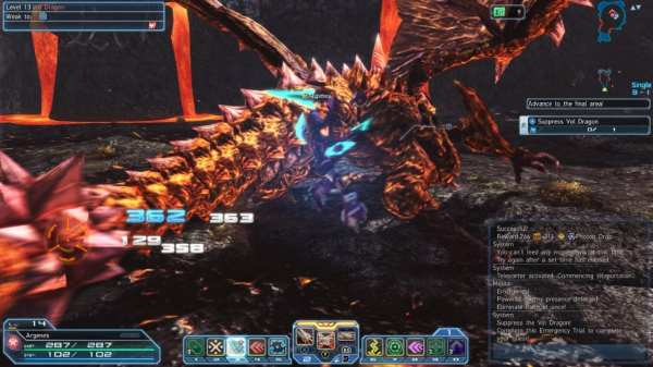 phantasy star online 2, pso2, closed beta, volcano, vol dragon