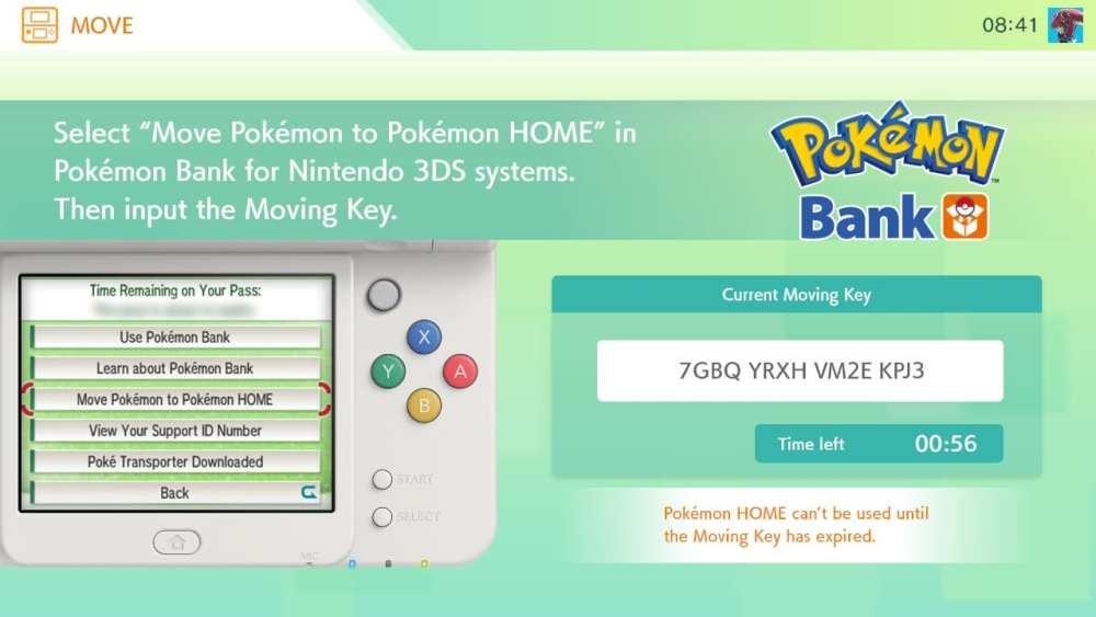 pokemon bank, pokemon home