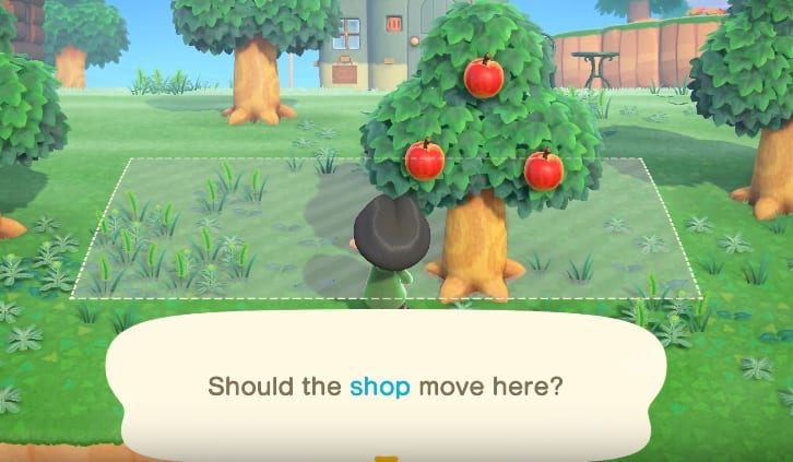 shops, move buildings, animal crossing new horizons
