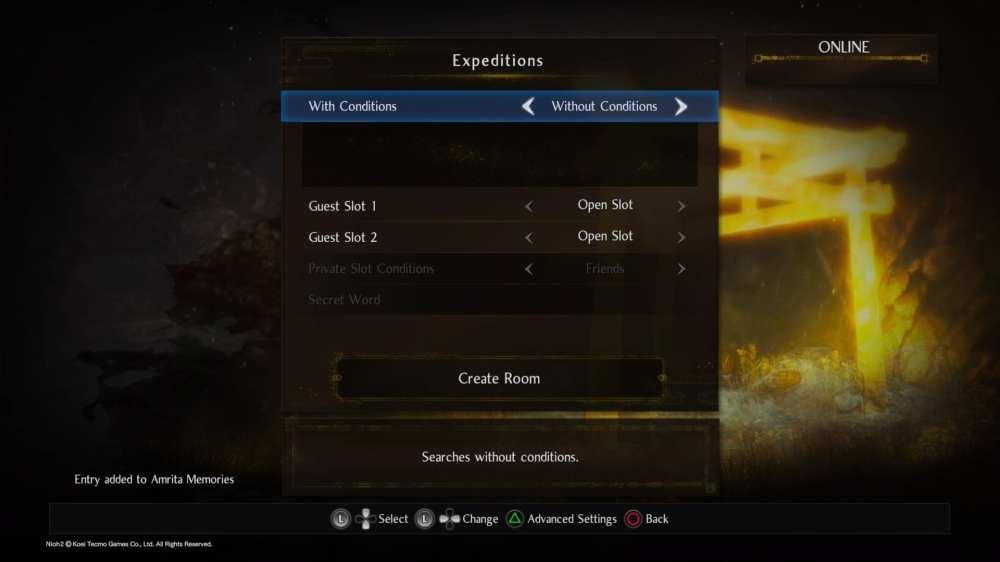 Nioh 2 co-op multiplayer