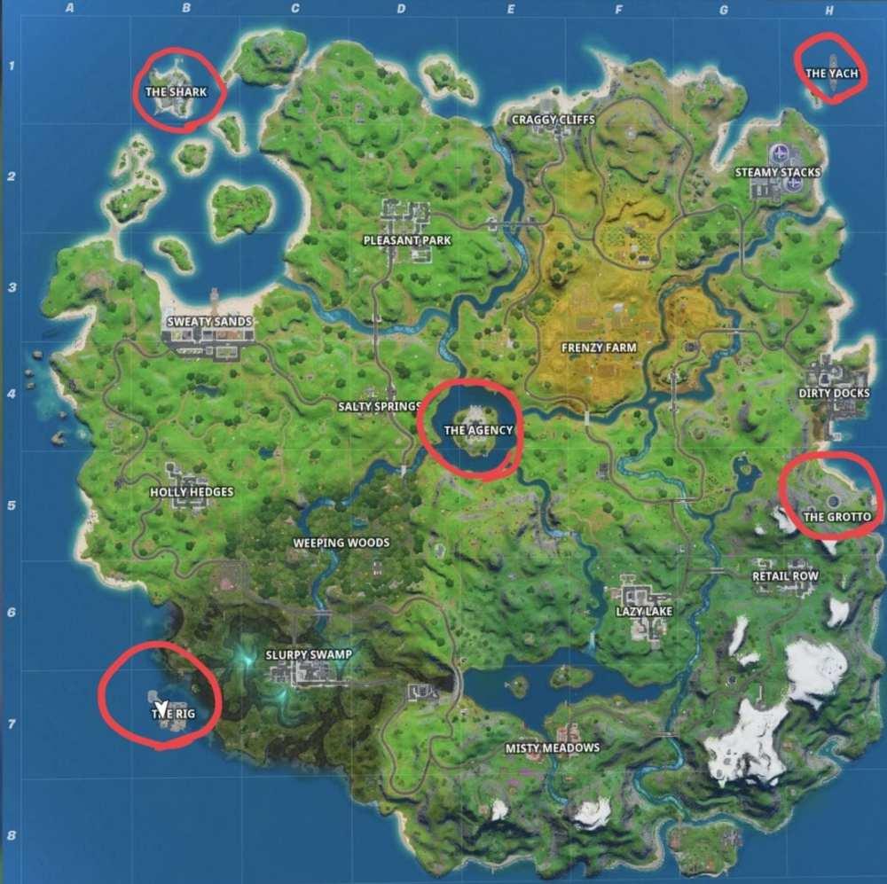 Fortnite Sentry Turret Map, Fortnite Sentry Camera Map