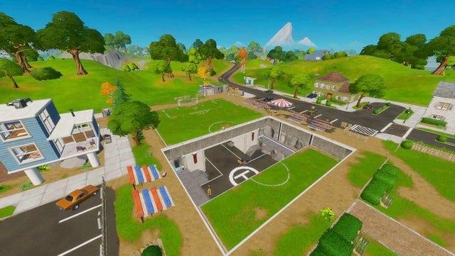 Fortnite pleasant park soccer pitch