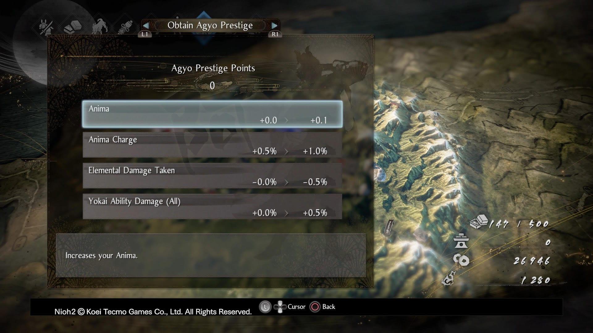 Nioh 2 Prestige Points Agyo Buffs