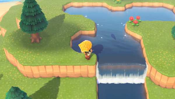 Animal Crossing: New Horizons clifftop river
