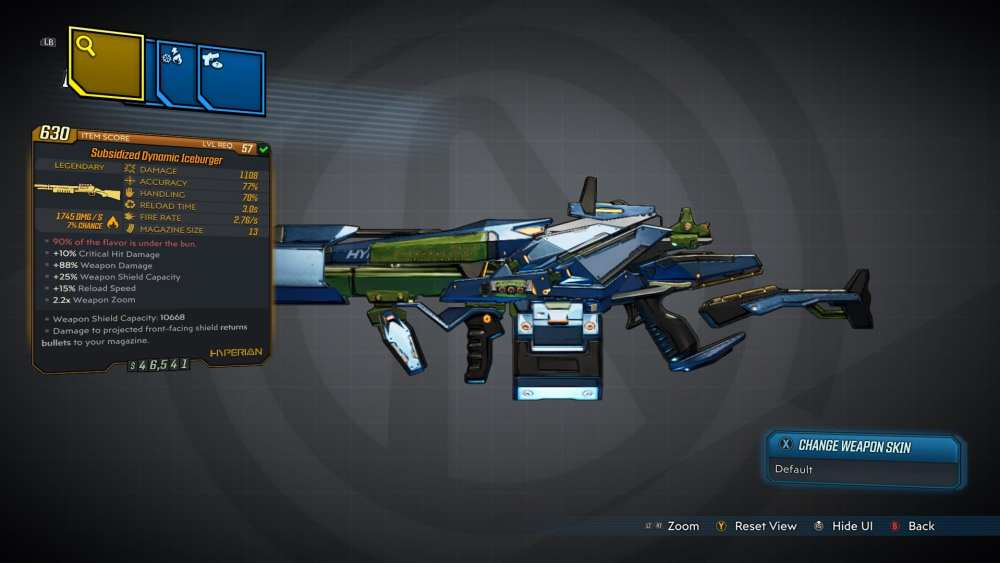 Iceburger Legendary Shotgun