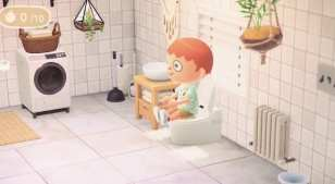 animal crossing new horizons pooping