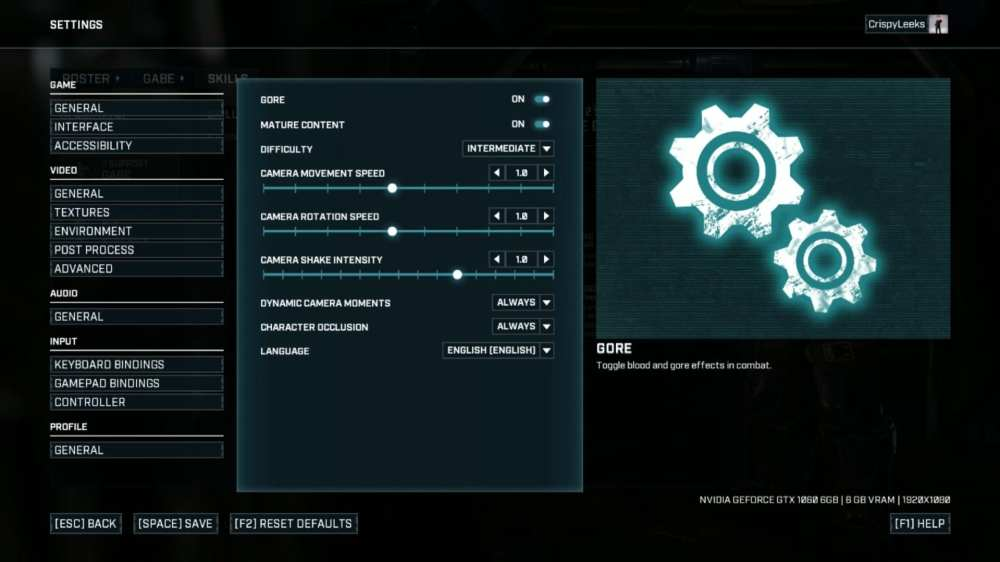 Difficulty in Gears Tactics