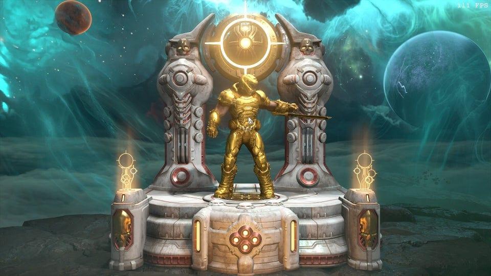 doom eternal, gold doom slayer skin